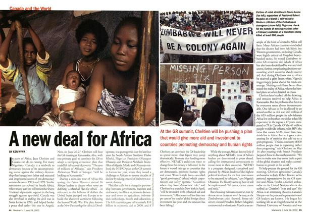 Article Preview: A new deal for Africa, June 2002 | Maclean's