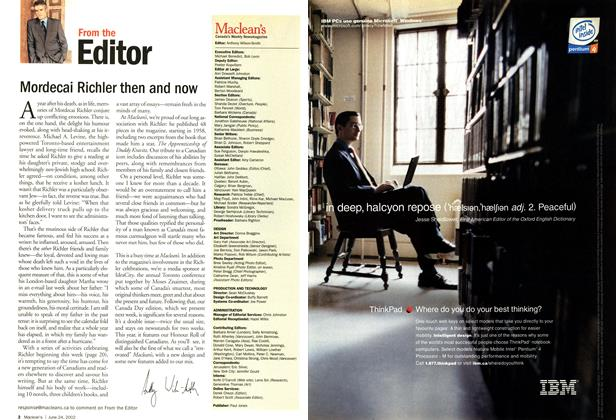 Article Preview: Mordecai Richler then and now, June 2002 | Maclean's
