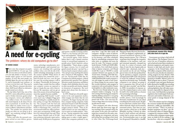 Article Preview: A need for e-cycling, June 2002 | Maclean's