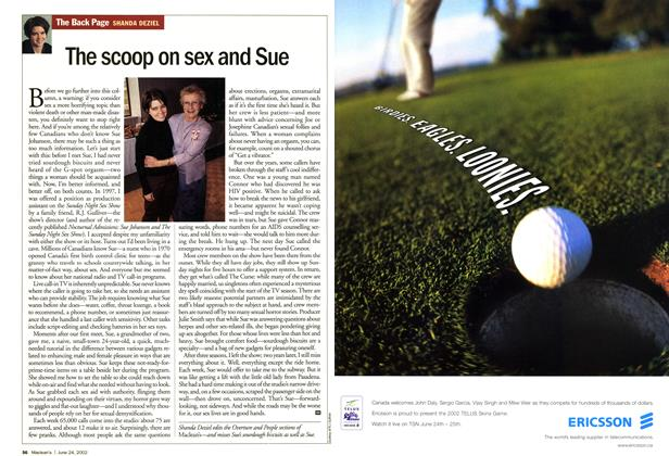 Article Preview: The scoop on sex and Sue, June 2002 | Maclean's