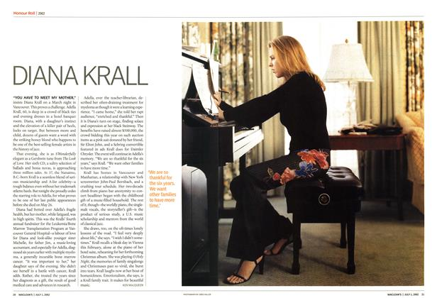 Article Preview: DIANA KRALL, July 2002 | Maclean's