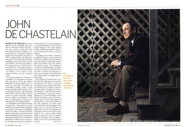Article Preview: JOHN DE CHASTELAIN, July 2002 | Maclean's