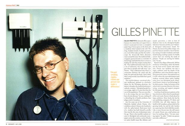 Article Preview: GILLES PINETTE, July 2002 | Maclean's