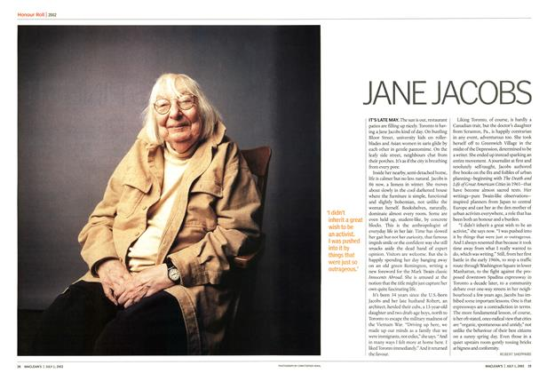 Article Preview: JANE JACOBS, July 2002 | Maclean's