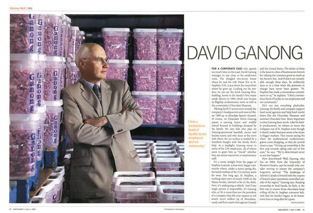 Article Preview: DAVID GANONG, July 2002 | Maclean's