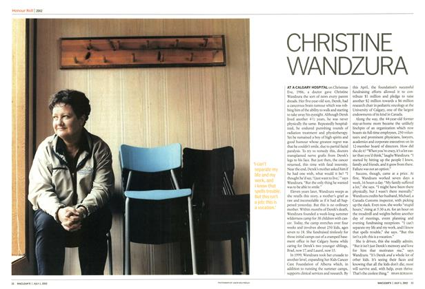 Article Preview: CHRISTINE WANDZURA, July 2002 | Maclean's