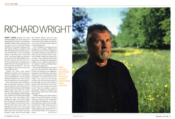 Article Preview: RICHARD WRIGHT, July 2002 | Maclean's
