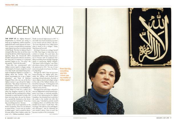 Article Preview: ADEENA NIAZI, July 2002 | Maclean's