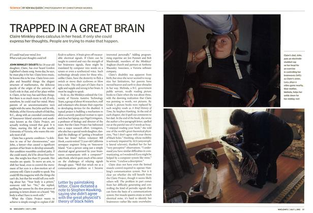 Article Preview: TRAPPED IN A GREAT BRAIN, July 2002 | Maclean's