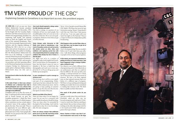 "Article Preview: ""I'M VERY PROUD OF THE CBC', July 2002 