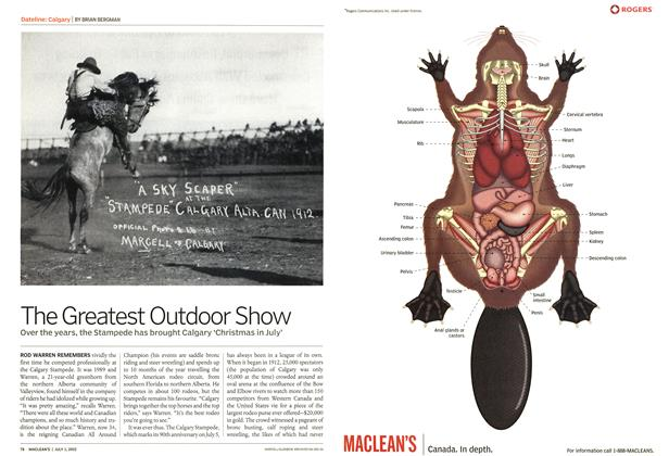Article Preview: The Greatest Outdoor Show, July 2002 | Maclean's