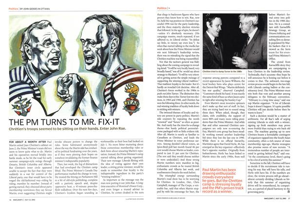 Article Preview: THE PM TURNS TO MR. FIX-IT, July 2002 | Maclean's
