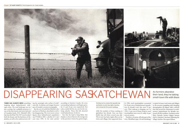 Article Preview: DISAPPEARING SAS KATCHEWAN, July 2002 | Maclean's