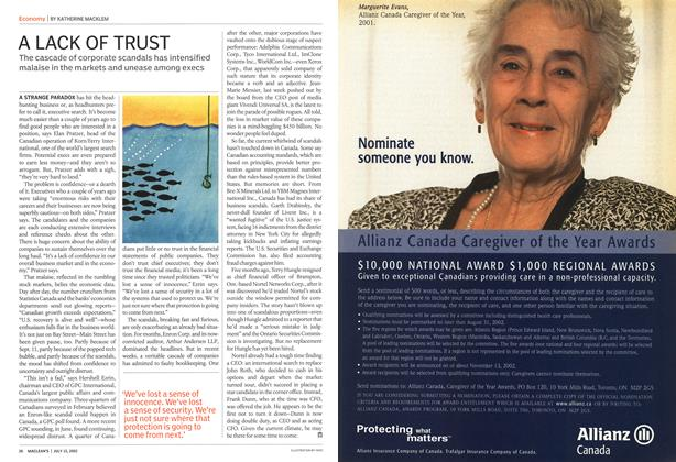 Article Preview: A LACK OF TRUST, July 2002 | Maclean's
