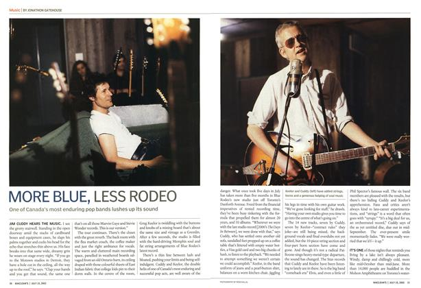 Article Preview: MORE BLUE, LESS RODEO, July 2002 | Maclean's