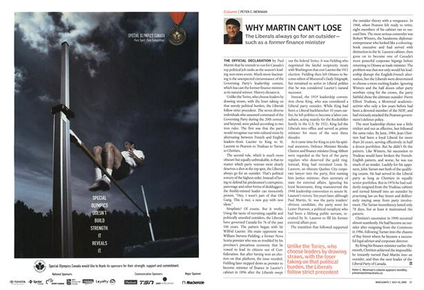 Article Preview: WHY MARTIN CAN'T LOSE, July 2002 | Maclean's