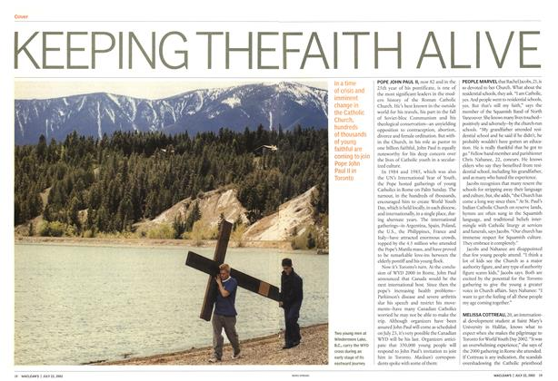 Article Preview: KEEPING THE FAITH ALIVE, July 2002   Maclean's