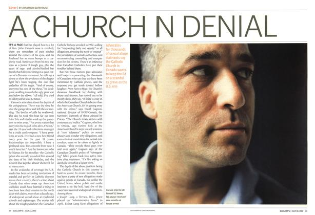Article Preview: A CHURCH IN DENIAL, July 2002 | Maclean's