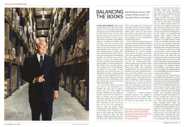Article Preview: BALANCING THE BOOKS, July 2002 | Maclean's