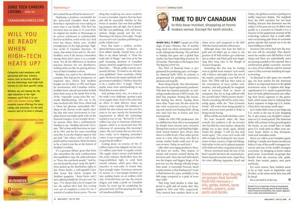 Article Preview: TIME TO BUY CANADIAN, July 2002 | Maclean's