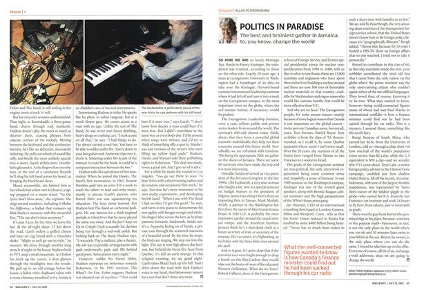 Article Preview: POLITICS IN PARADISE, July 2002 | Maclean's