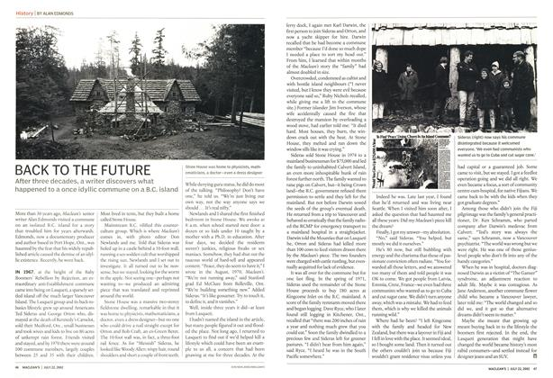 Article Preview: BACK TO THE FUTURE, July 2002 | Maclean's