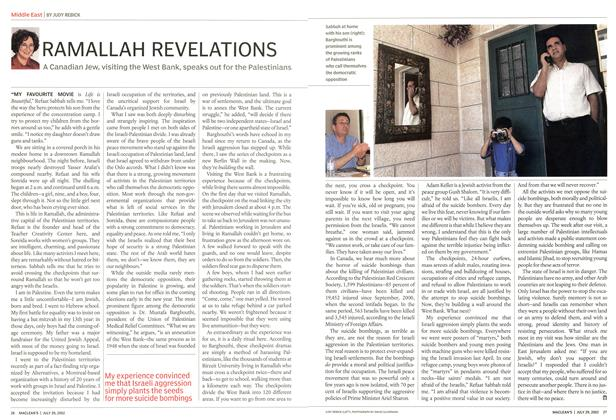 Article Preview: RAMALLAH REVELATIONS, July 2002 | Maclean's