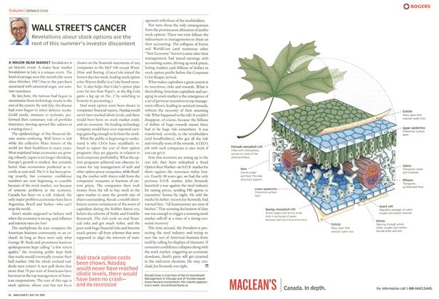 Article Preview: WALL STREET'S CANCER, July 2002 | Maclean's
