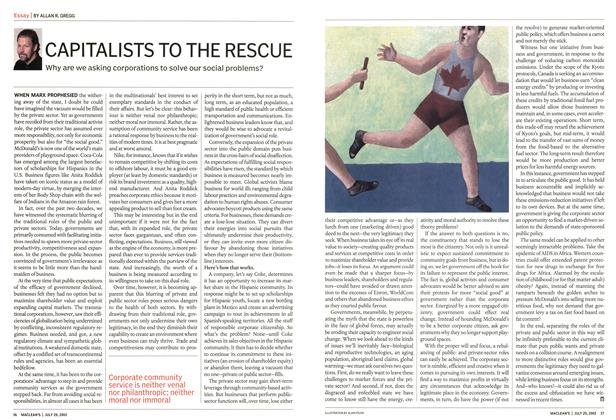 Article Preview: CAPITALISTS TO THE RESCUE, July 2002 | Maclean's
