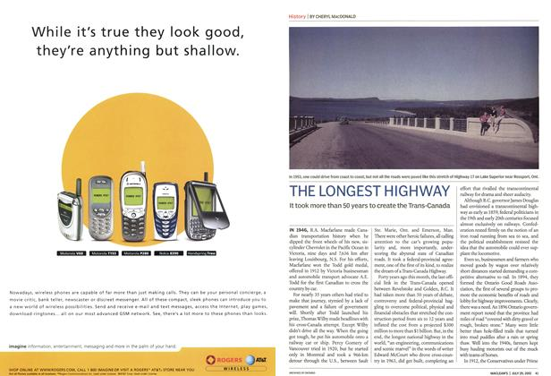 Article Preview: THE LONGEST HIGHWAY, July 2002 | Maclean's