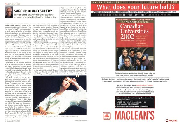 Article Preview: SARDONIC AND SULTRY, July 2002 | Maclean's