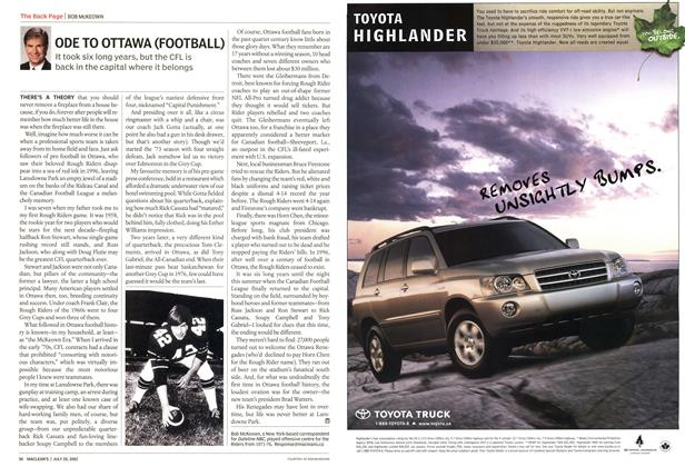 Article Preview: ODE TO OTTAWA (FOOTBALL), July 2002 | Maclean's