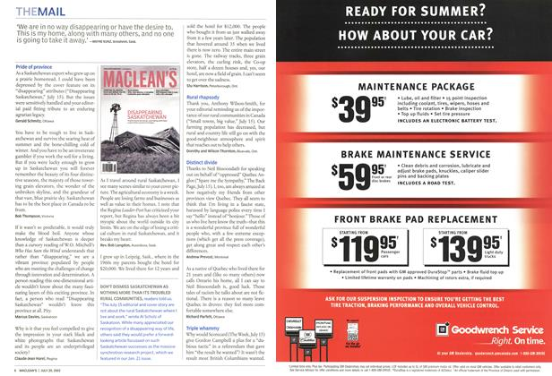 Article Preview: THE MAIL, July 2002 | Maclean's