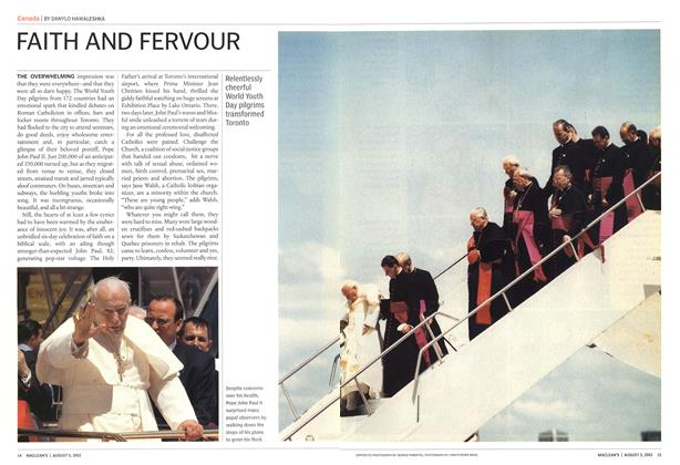 Article Preview: FAITH AND FERVOUR, August 2002 | Maclean's