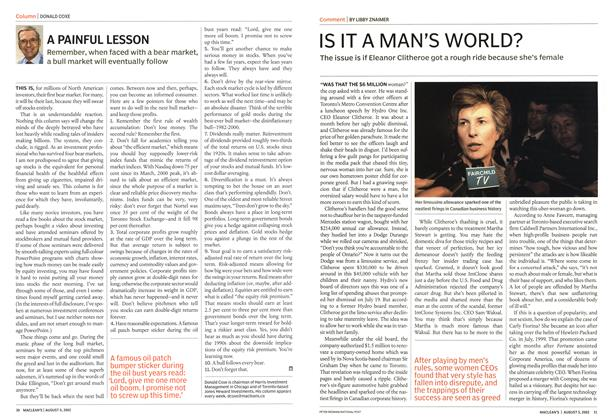 Article Preview: A PAINFUL LESSON, August 2002 | Maclean's