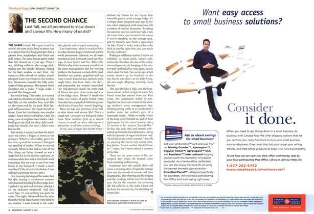 Article Preview: THE SECOND CHANCE, August 2002 | Maclean's