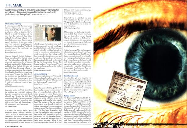 Article Preview: THE MAIL, August 2002   Maclean's