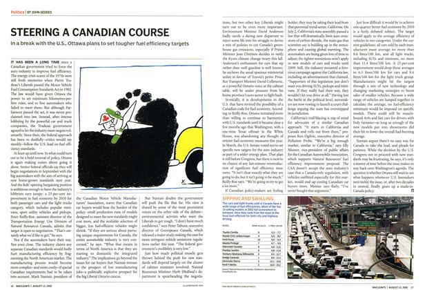 Article Preview: STEERING A CANADIAN COURSE, August 2002 | Maclean's