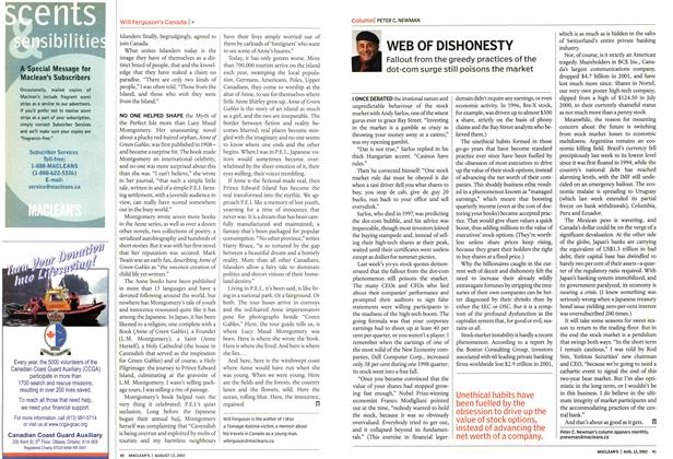 Article Preview: WEB OF DISHONESTY, August 2002 | Maclean's