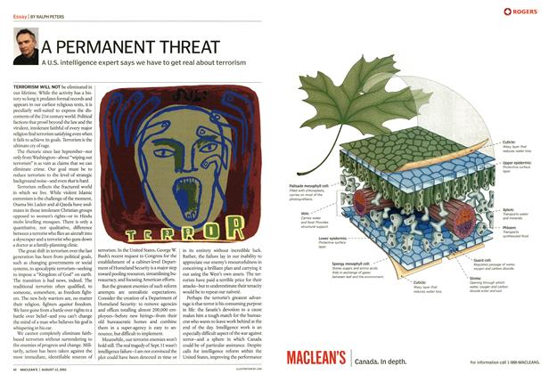 Article Preview: A PERMANENT THREAT, August 2002 | Maclean's