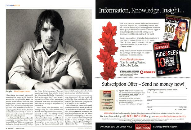 Article Preview: People, August 2002 | Maclean's