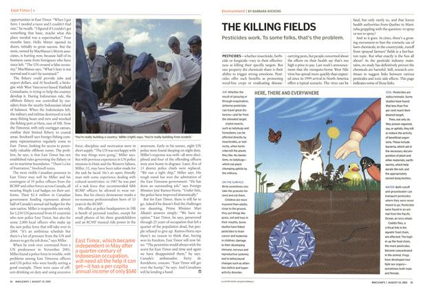 Article Preview: THE KILLING FIELDS, August 2002 | Maclean's