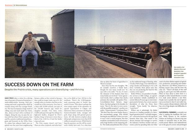 Article Preview: SUCCESS DOWN ON THE FARM, August 2002 | Maclean's