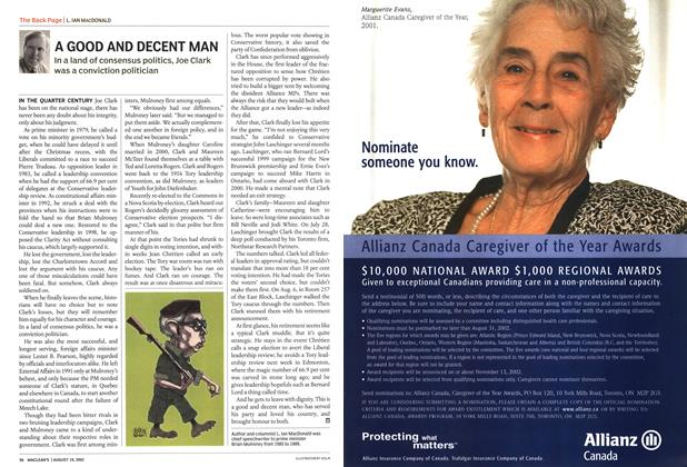 Article Preview: A GOOD AND DECENT MAN, August 2002 | Maclean's