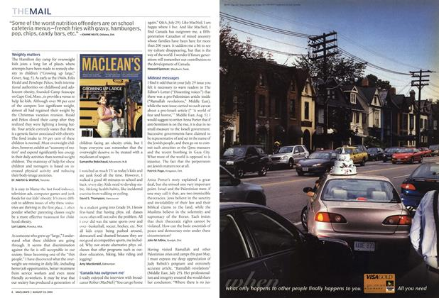 Article Preview: THE MAIL, August 2002 | Maclean's