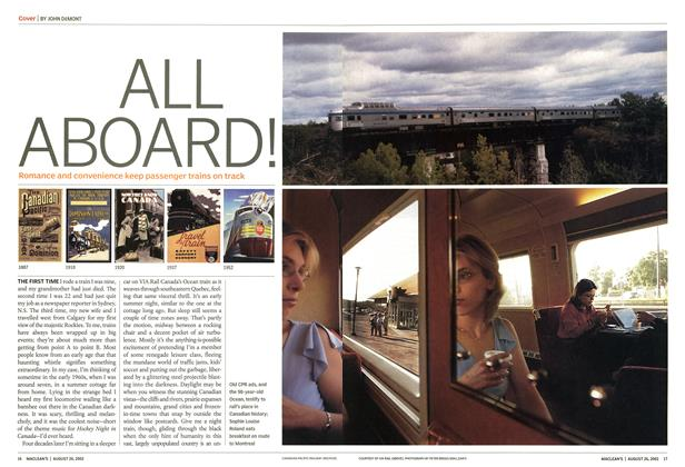 Article Preview: ALL ABOARD!, August 2002 | Maclean's
