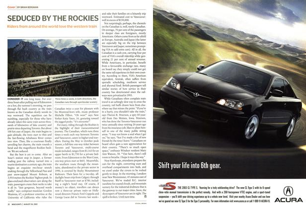 Article Preview: SEDUCED BY THE ROCKIES, August 2002 | Maclean's