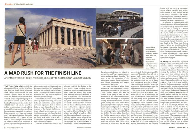 Article Preview: A MAD RUSH FOR THE FINISH LINE, August 2002 | Maclean's