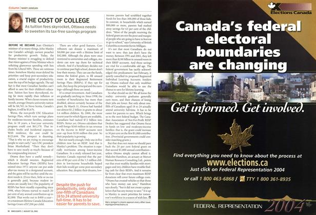 Article Preview: THE COST OF COLLEGE, August 2002 | Maclean's