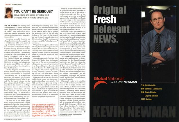 Article Preview: YOU CAN'T BE SERIOUS?, August 2002 | Maclean's